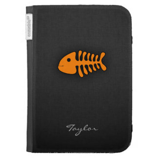 Orange Fish Bones Kindle 3G Covers