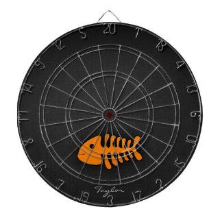 Orange Fish Bones Dart Board