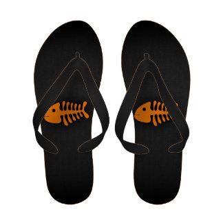 Orange Fish Bones Sandals