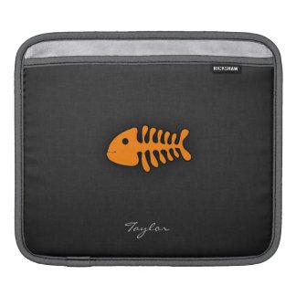 Orange Fish Bones Sleeve For iPads