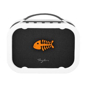 Orange Fish Bones Lunch Boxes
