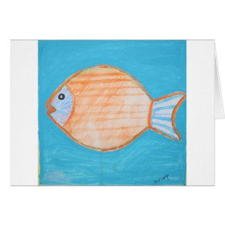 Orange Fish Card