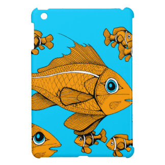 Orange Fish Case For The iPad Mini