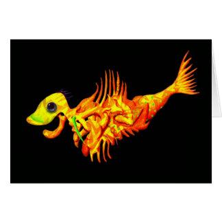 Orange Fish Greeting Card