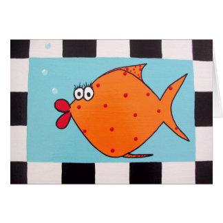 Orange Fish Note Card