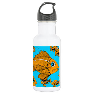 Orange Fish 532 Ml Water Bottle