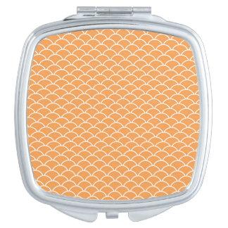 Orange Fish Scales Compact Mirror