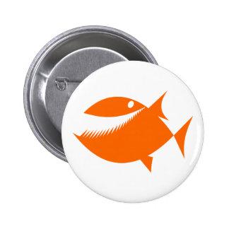 Orange fish tales pin