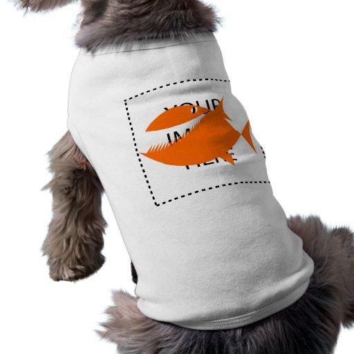 Orange fish tales pet tshirt