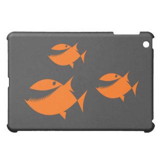 Orange fish tales iPad mini covers