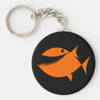 Orange fish tales key ring