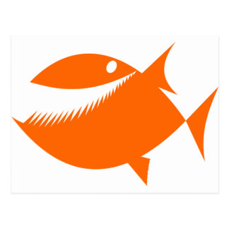Orange fish tales post cards