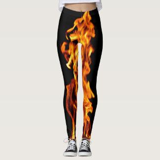 Orange flame leggings