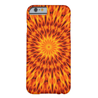 Orange Flames Kaleidoscope Barely There iPhone 6 Case
