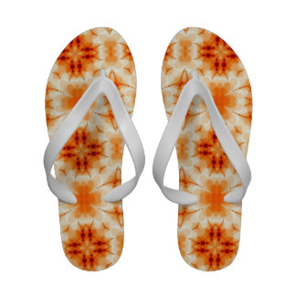 Orange Floral Abstract Sandals