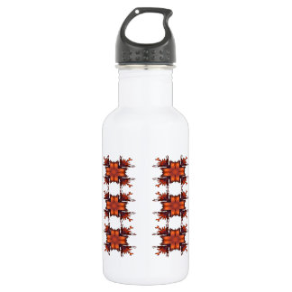 Orange Floral Bow 532 Ml Water Bottle