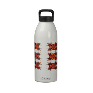 Orange Floral Bow Reusable Water Bottle