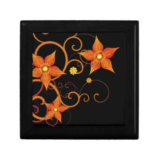 Orange Floral Design Gift Box