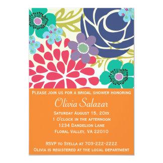 Orange Floral Garden Invitation