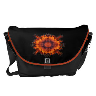 Orange Floral Glow Courier Bag