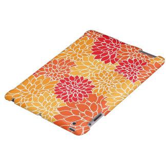Orange Floral iPad Case