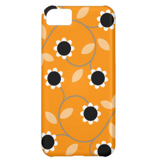 Orange Floral Pattern iPhone 5C Covers