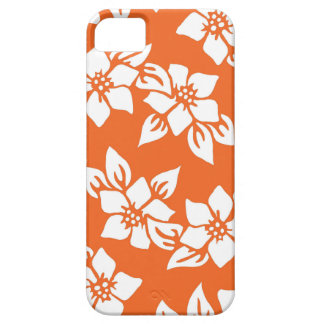 Orange Floral Print Case For The iPhone 5