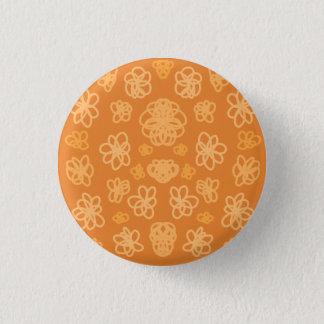 Orange Flower Folly 3 Cm Round Badge