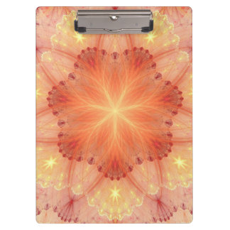 Orange Flower Lace Petals Decorative Paint Clipboard