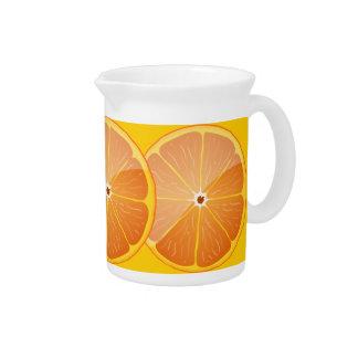 orange fruit juice pitcher