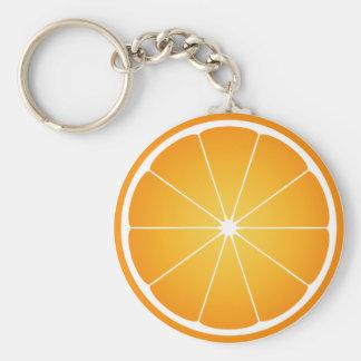 Orange fruit key chain