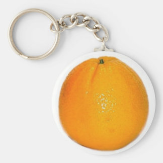 Orange Fruit Basic Round Button Key Ring