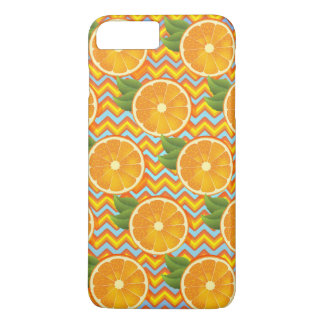 Orange Fruit on Colors Chevrons and Blue iPhone 7 Plus Case