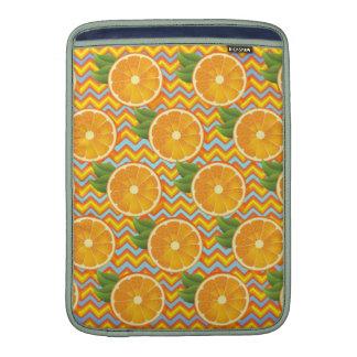 Orange Fruit on Colors Chevrons and Blue MacBook Air Sleeves