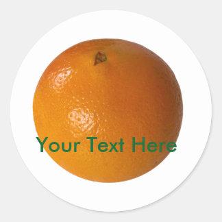 Orange Fruit Photo white background customizable Round Sticker