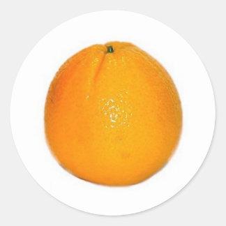 Orange Fruit Round Sticker