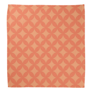 Orange Geocircle Design Bandana