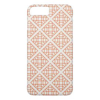 Orange geometrical retro vintage patterns iPhone 8 plus/7 plus case