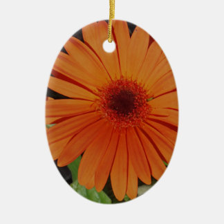 Orange Gerber gerbera Daisy daisie Christmas Tree Ornament