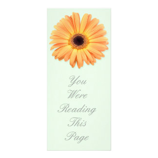 Orange Gerbera Bookmark Template Rack Card