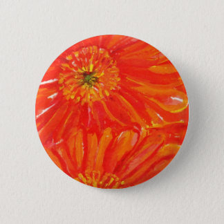 Orange Gerbera Daisies 6 Cm Round Badge