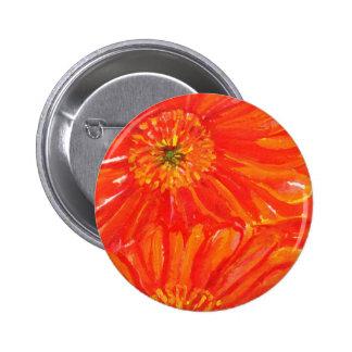 Orange Gerbera Daisies Buttons