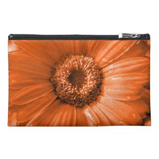 Orange Gerbera Daisy Travel Accessory Bags