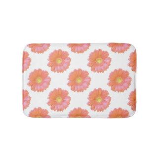 Orange gerbera daisy bath mats