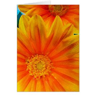 Orange Gerbera Daisy Digital Painting Card
