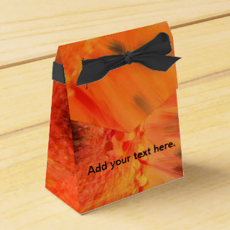 Orange Gerbera Daisy Favor Boxes