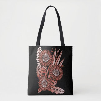 Orange Gerbera Daisy Flower Bouquet Tote Bag