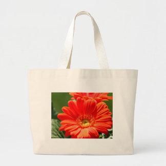 Orange Gerbera Daisy Large Tote Bag