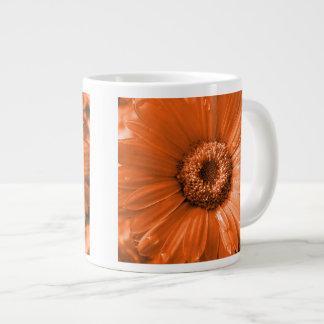 Orange Gerbera Daisy 20 Oz Large Ceramic Coffee Mug