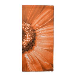 Orange Gerbera Daisy Printed Napkin